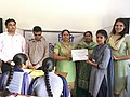 Certificate distribution at Wiki Awareness Campaign Karnal 03.jpg