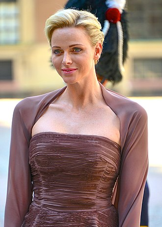 Charlene, Princess of Monaco - Princess Charlene at the wedding of Princess Madeleine of Sweden in June 2013