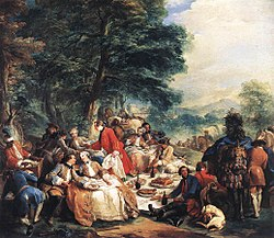 Charles-André van Loo: Halt During the Hunt (C.-A. van Loo)