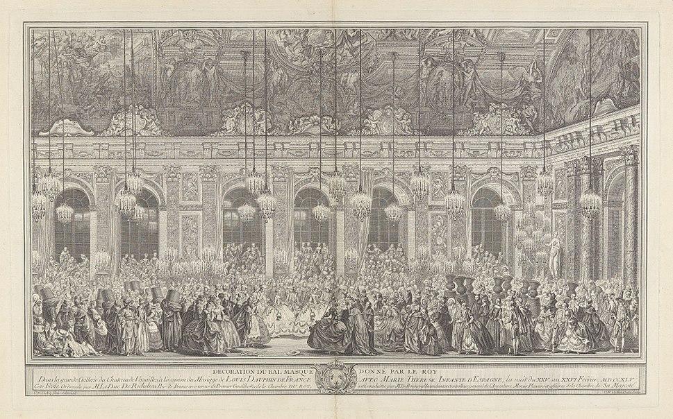 Charles Nicolas Cochin I, Decoration for a Masked Ball at Versailles, ca. 1860