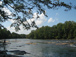 Chattahoochee River - Chattahoochee River at Jones Bridge Park in Peachtree Corners, Georgia