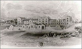 Chell, Staffordshire - Chell Workhouse circa 1839