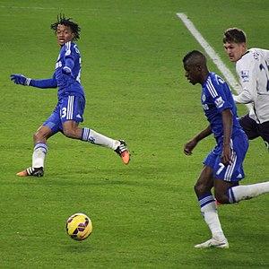 Juan Cuadrado - Cuadrado (left) making his first start for Chelsea, versus Everton