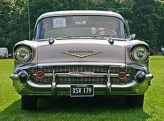 Unsafe at Any Speed - Unsafe at Any Speed demonstrated that aggressive styling like that of the 1957 Chevrolet Bel Air was hazardous to pedestrians.