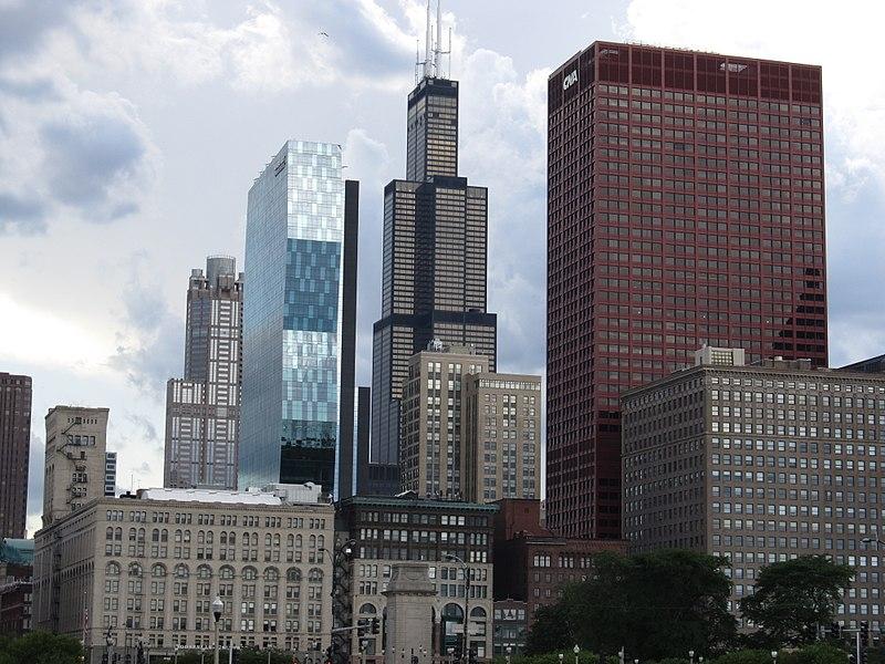 File:Chicago Loop Skyline from Grant Park, Chicago, Illinois (9179527395).jpg