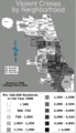 Chicago violent crime map 2006 print.png
