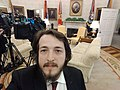 Chief White House Correspondent Yavuz Atalay at Oval Office, The White House (2).jpg