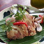 Chin som mok is a speciality of northern Thailand and is the northern Thai version of naem sausage