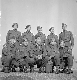 Chinese Canadians - Chinese-Canadian soldiers from Vancouver serving in the Second World War