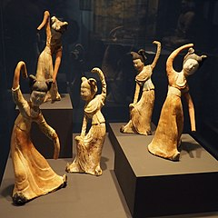 Set of statuettes of dancers