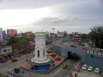 Kollam Municipal Corporation - Chinnakada Underpass and Clocktower