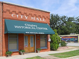 Pine Mountain, Harris County, Georgia - Image: Chipley Pine Mountain Georgia Town Hall