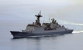 Operation Dawn of Gulf of Aden - The ROKS ''Choi Young'' (DDH 981) in July 2010.