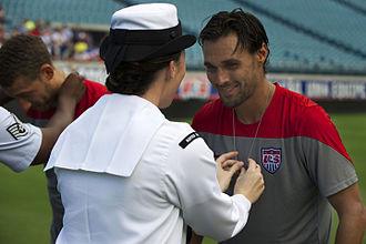 Chris Wondolowski - Wondolowski at a ceremony with the U.S. Navy in June 2014