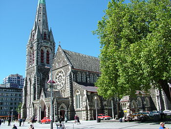 English: Christchurch Cathedral. Christchurch,...