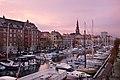 Christianshavn at winter, Copenhagen, Denmark Christianshavn om vinteren, København, Danmark (37636459756).jpg