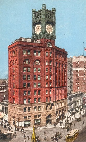 San Francisco Chronicle - The Old Chronicle Building at 690 Market Street, completed in 1889 (1901)