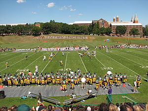 Chuck Noll - Chuck Noll Field at Saint Vincent College.  Here, Saint Vincent returns to college football in a game against Gallaudet University.