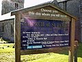 Church of St James, Burton, Sign - geograph.org.uk - 1308183.jpg