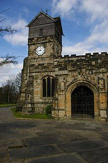 Richard Assheton incorporated a memorial to Flodden in St Leonard's, Middleton Church of St Leonard, Middleton.jpg