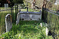Church of St Mary and St Christopher, Panfield - churchyard fenced monuments internal.jpg