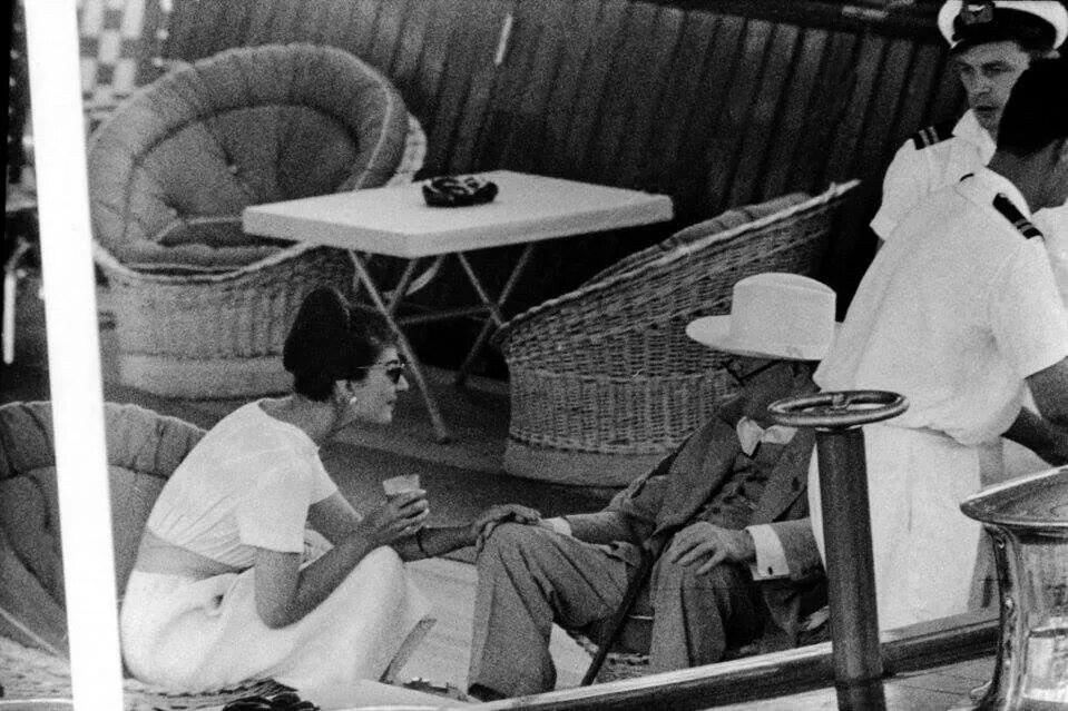 Churchill and Maria Callas