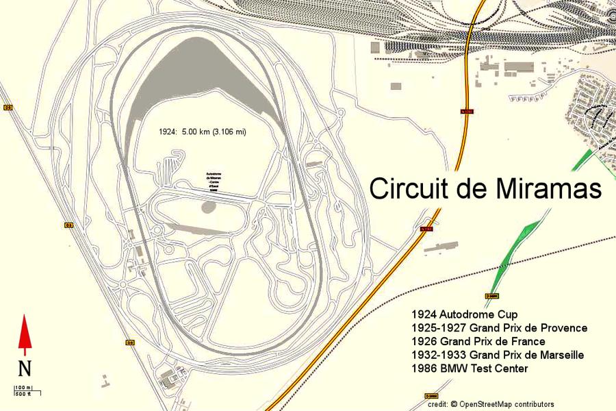 Circuit de Miramas (Open Street Map)