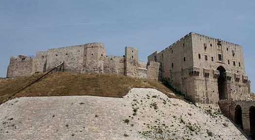 Nasr seized the Aleppo Citadel from his brother Thimal in 1030, and became sole ruler of Aleppo. He added numerous living quarters and reception halls to the citadel and made it his residence and seat of power. Citadelle d'Alep.jpg