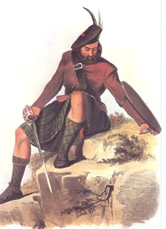 Clan Mackay - A Victorian era romantic illustration of a MacKay clansman by R. R. McIan.