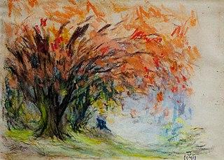 Bouquet d'arbres au feuillage rouge