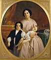 Claudi Lorenzale - Portrait of the Painter's Wife and Children - Google Art Project.jpg
