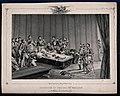 Clerics and military men surrounding the open coffin of Napoleon Bonaparte.jpg