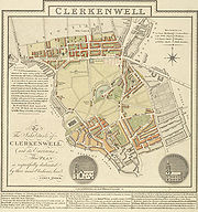 Clerkenwell 1805 Cartographer; Tyrer, James