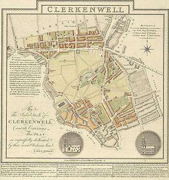 Clerkenwell - Clerkenwell in 1805