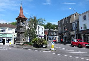 Clevedon - The clock tower in Clevedon town centre