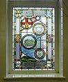 Clitheroe Library, Millenium window AD0001.JPG