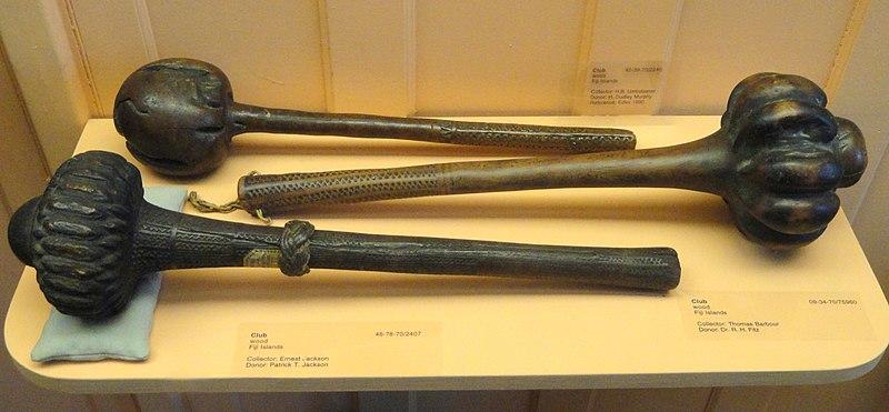 File:Clubs, Fiji Islands, wood - Pacific collection - Peabody Museum, Harvard University - DSC05762.JPG