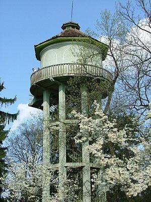 Cluj-Napoca Botanical Garden - Image: Cluj Napoca botanical garden 07 the water tower