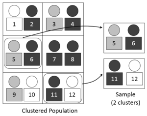Sampling (statistics) - A visual representation of selecting a random sample using the cluster sampling technique