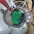 Cmglee Wikimania2016 Esino Lario gym interior tinyplanet.jpg