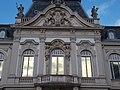 CoA, statues, balcony, Festetics Palace main building west facade, Keszthely, 2016 Hungary.jpg