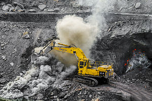 Dhanbad - Open-cast mining in the outskirts of Dhanbad