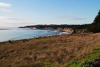 Schooner Gulch State Beach - Image: Coastline at Schooner Gulch State Beach California