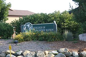 College of Menominee Nation - Image: College Of Menominee Nation Sign WIS55