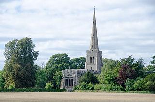 Colmworth farm village in the United Kingdom