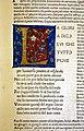 Commento di cristoforo landino sopra la comedia di dante..., incunabolo per niccolò di lorenzo della magna, firenze 1481, 12 paradico canto I, iniziale L.jpg