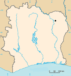 Comoé national park location.PNG
