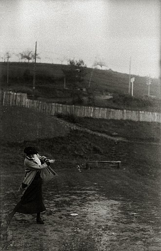 Golf - Female golfer in a competition in Spain in 1915.