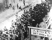 Confederates marching through Frederick, MD in 1862