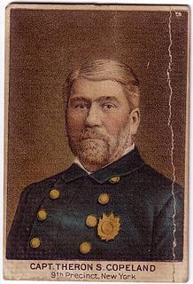 Theron S. Copeland NYPD police captain and drillmaster who served under Inspector Daniel C. Carpenter during the New York Draft Riots.
